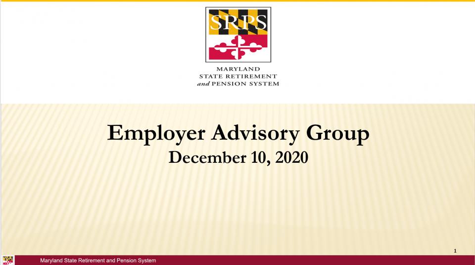 MPAS + Employer Advisory Group 12/10/2020