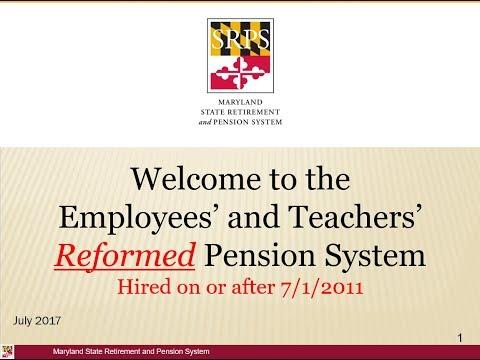 Employees' and Teachers Reformed Pension System Video
