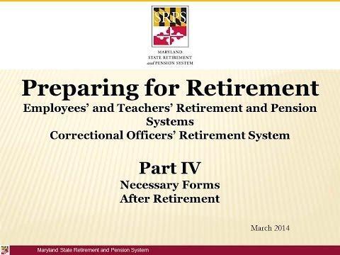 Retirement Part 4: Retirement Forms and Post Retirement Video