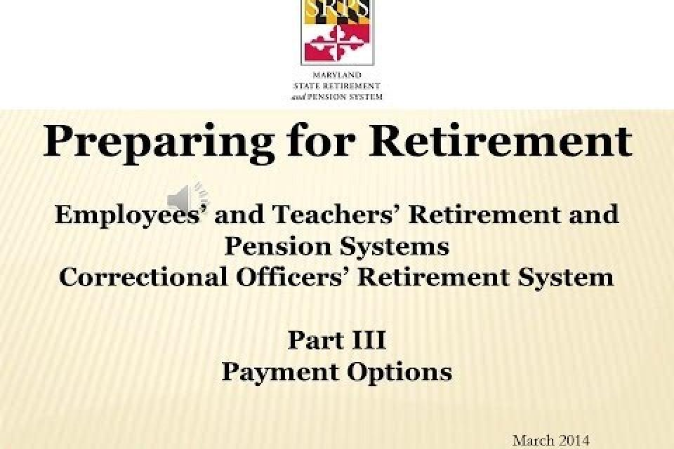Member Videos Maryland State Retirement And Pension System
