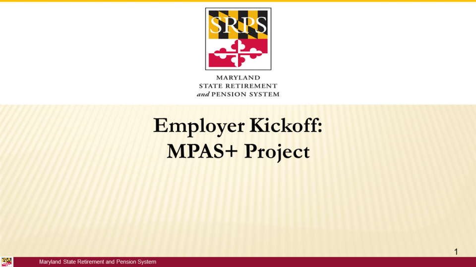 Employer Kickoff: MPAS+ Project